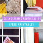 A Daily Cleaning Routine – FREE Printable