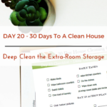Day 20 – 30 Day House Cleaning Challenge: Deep Clean the Extra-Room Storage Units