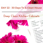Day 22 – 30 Day House Cleaning Challenge: Deep Clean Kitchen Cabinets