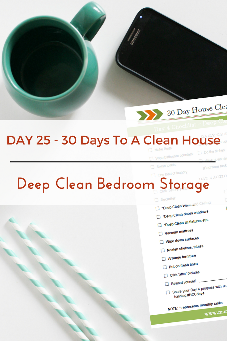 Day 25 30 Day House Cleaning Challenge Deep Clean Bedroom Storage Units Mummepreneur