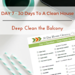Day 7 – 30 Day House Cleaning Challenge: Deep Clean The Balcony
